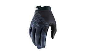 100% KIDS iTRACK BLACK/CHARCOAL GLOVES
