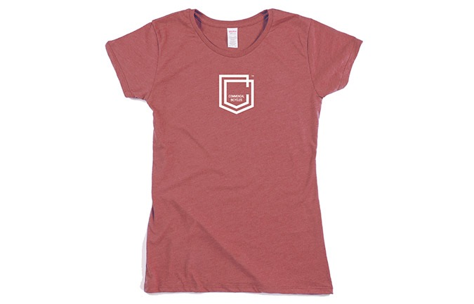 COMMENCAL GIRL SHIELD T-SHIRT BURGUNDY 2019