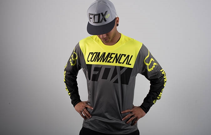 JERSEY COMMENCAL BY FOX HEAD YELLOW 2016