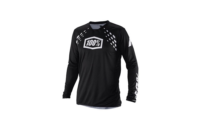 100% R-CORE X DH BLACK LONG SLEEVE JERSEY 2019