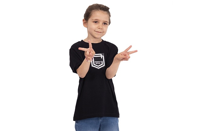 COMMENCAL KIDS SHIELD T-SHIRT BLACK