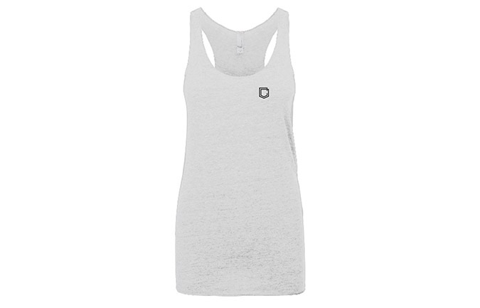 COMMENCAL GIRL SHIELD TANK TOP HEATHER WHITE
