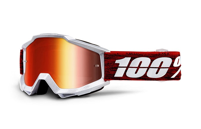 100% ACCURI GRAHAM GOGGLE - RED MIRROR LENS