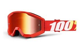 100% STRATA JUNIOR FURNACE GOGGLE - RED MIRROR LENS
