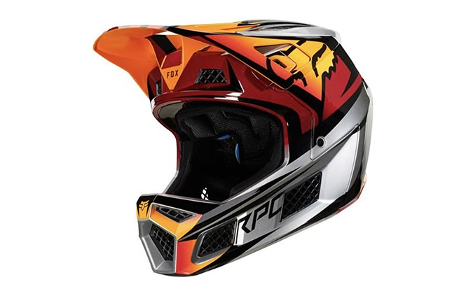 FOX RAMPAGE PRO CARBON HELMET ICE RED