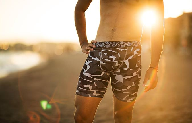 BOXER CAMO BLACK LONG
