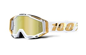 100% RACECRAFT LTD GOGGLE -  GOLD MIRROR LENS