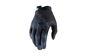 100% iTRACK BLACK/CHARCOAL GLOVES