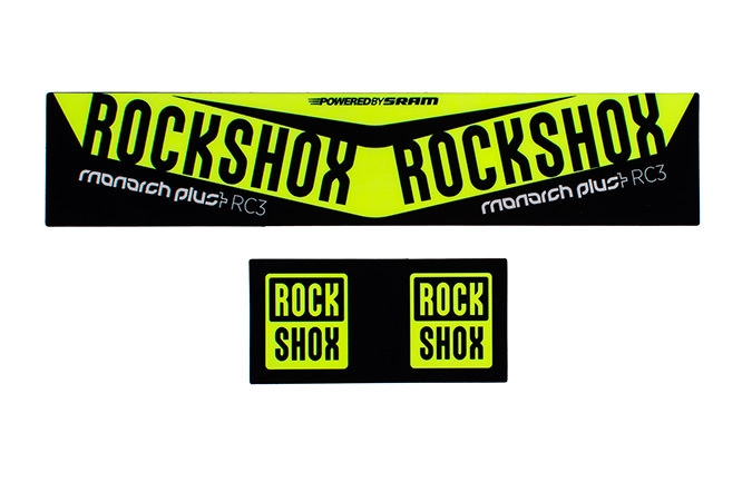 ROCK SHOX MONARCH PLUS DEBONAIR KIT STICKER NEON YELLOW