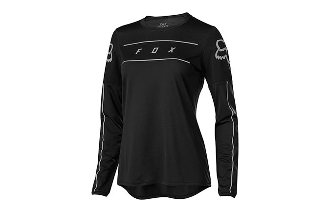 FOX WOMAN FLEXAIR LONG SLEEVE JERSEY BLACK 2019