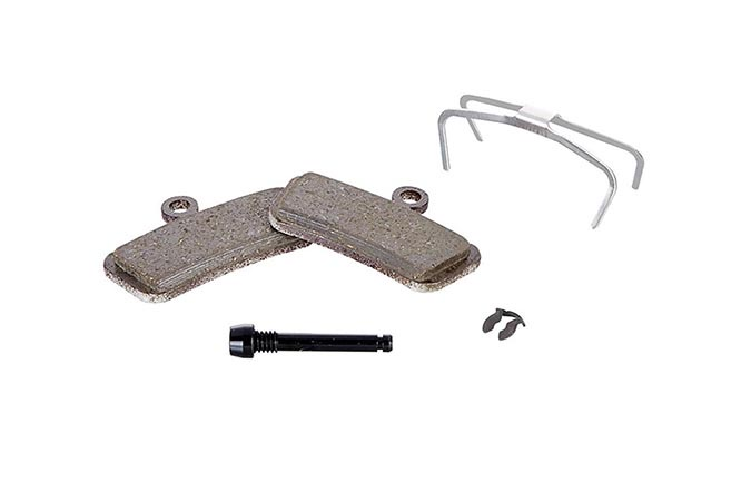 SRAM DISC BRAKE PADS ORGANIC STEEL BACKPLATE - GUIDE, TRAIL, G2