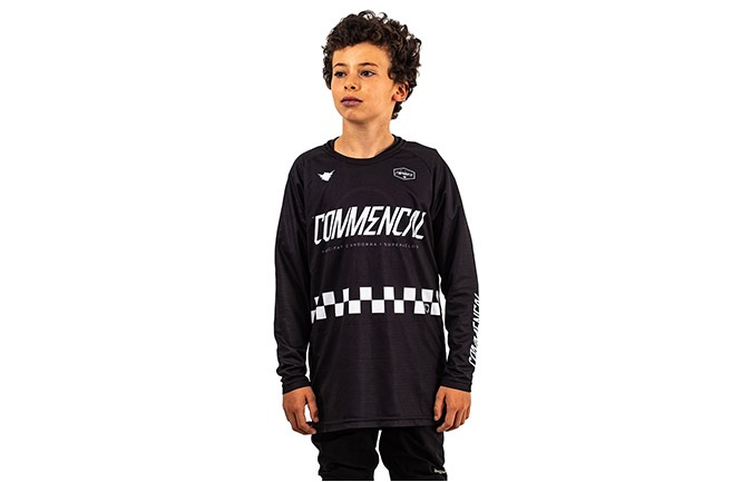 KIDS LONG SLEEVE FORBIKE/COMMENCAL JERSEY BLACK 2019