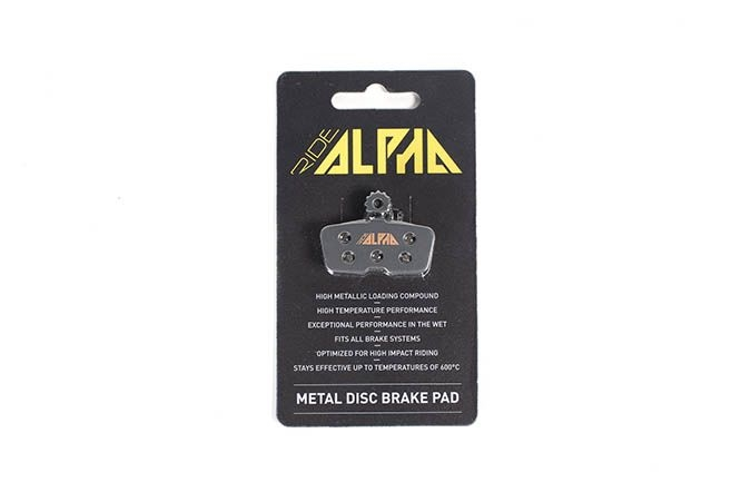 RIDE ALPHA SINTERED BRAKE PADS FOR AVID CODE R 2016