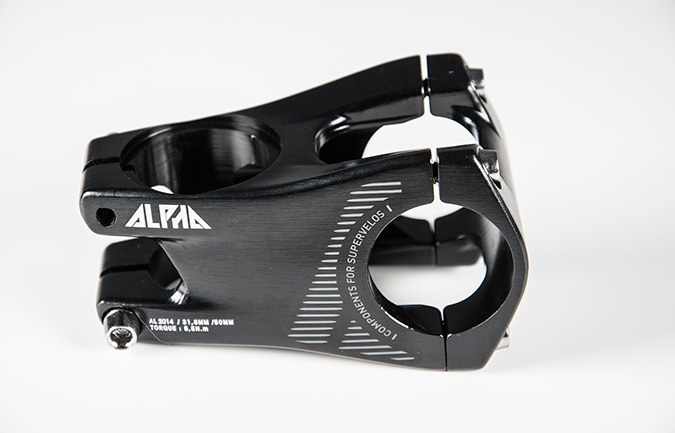 RIDE ALPHA FREERIDE 50 MM EXTENSION STEM BLACK 2016