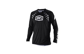 100% R-CORE X DH BLACK LONG SLEEVE JERSEY