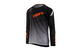 100% KIDS R-CORE SUPRA DH LONG SLEEVE JERSEY BLACK/GREY 2018