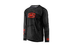 100% R-CORE-X DH LONG SLEEVE JERSEY BLACK CAMO