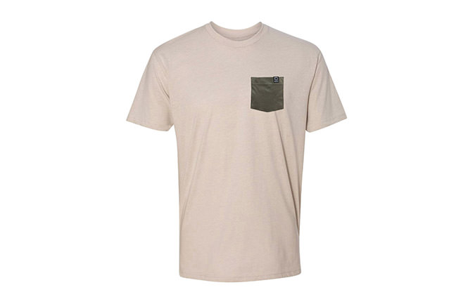 BASIC T-SHIRT SAND/GREEN 2018
