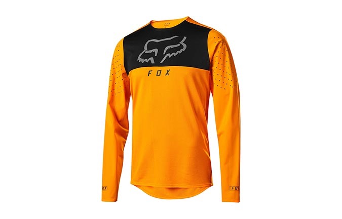 FOX FLEXAIR DELTA LONG SLEEVE JERSEY OPEN ORANGE 2019