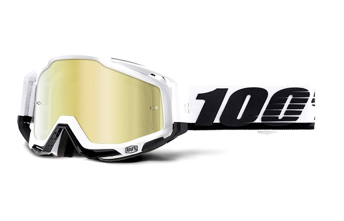 100% RACECRAFT STUU GOGGLES -  GOLD MIRROR LENS