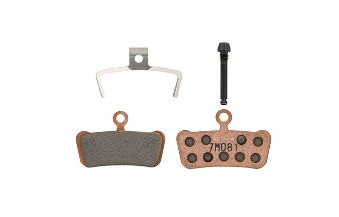 SRAM DISC BRAKE PADS SINTERED STEEL BACKPLATE - GUIDE, TRAIL, G2