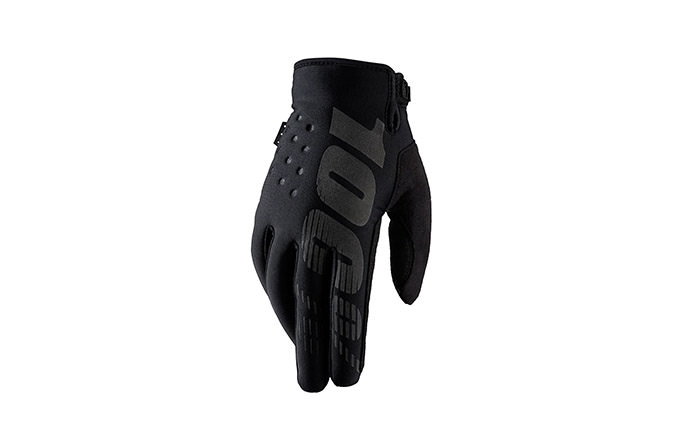 100% BRISKER COLD WEATHER GLOVES BLACK 2020