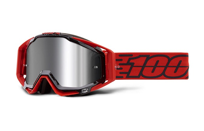 100% RACECRAFT TORO GOGGLE - INJECTED SILVER FLASH MIRROR LENS