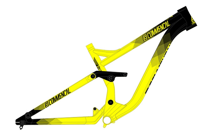 FRAME SUPREME DH V3 26 YELLOW 2016