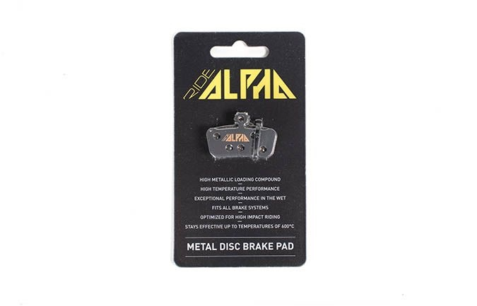 RIDE ALPHA SINTERED BRAKE PADS FOR AVID XO TRAIL/GUIDE