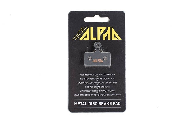 RIDE ALPHA SINTERED BRAKE PADS FOR SHIMANO XTR/XT/SLX