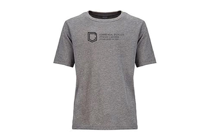 COMMENCAL KIDS SHIELD T-SHIRT HEATHER GREY 2019