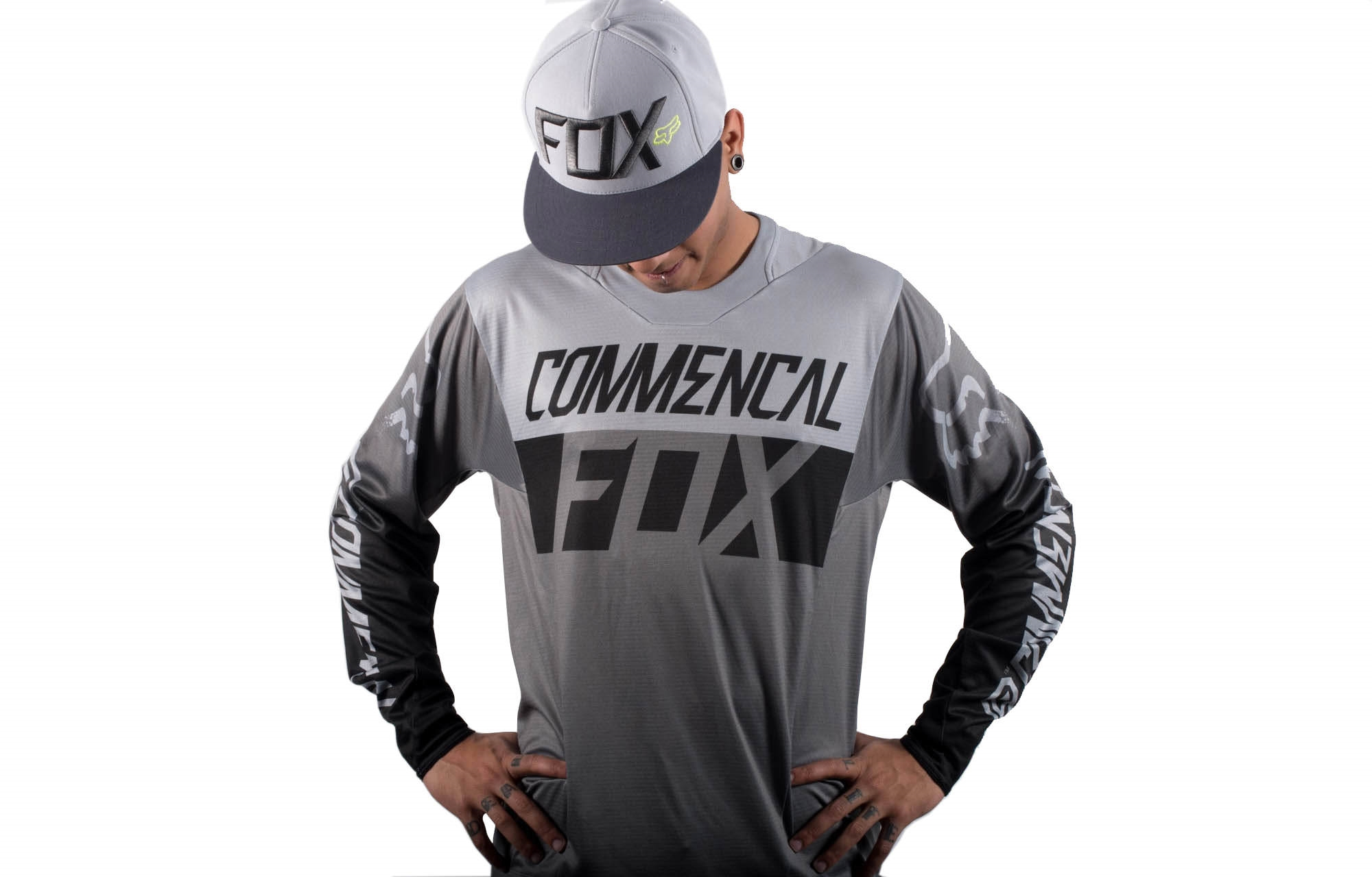 Jersey Commencal By Fox Head Grey