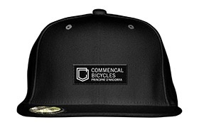 COMMENCAL SHIELD FLAT CAP BLACK 2019