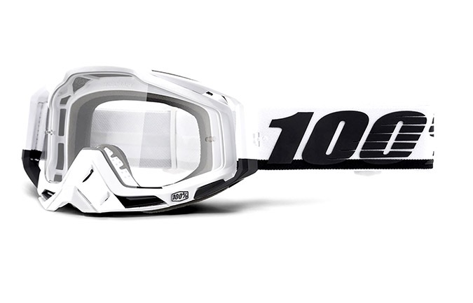 100% RACECRAFT SUEZ GOGGLES - CLEAR LENS 2020