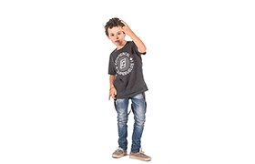 T-SHIRT CHIP CHARCOAL KIDS