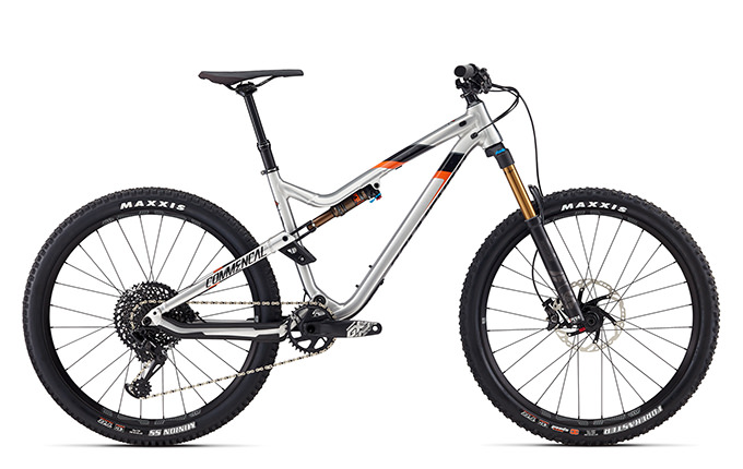 META TRAIL V4.2 RACE 650B BRUSHED/BLACK/ORANGE 2018