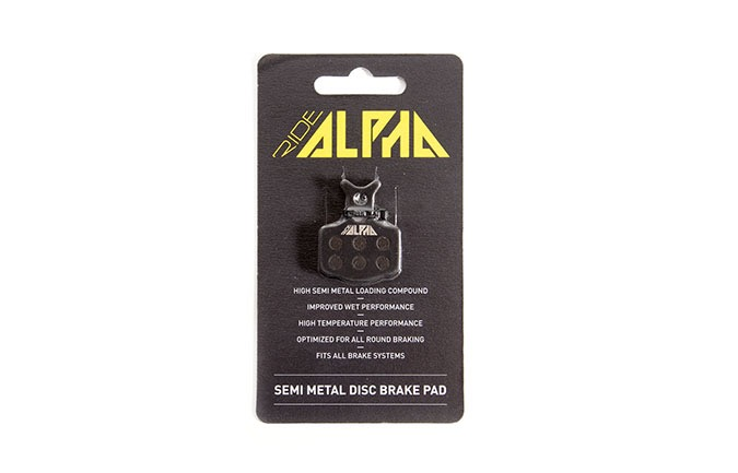 RIDE ALPHA SEMI-METAL BRAKE PADS FOR SHIMANO XTR/XT/SLX