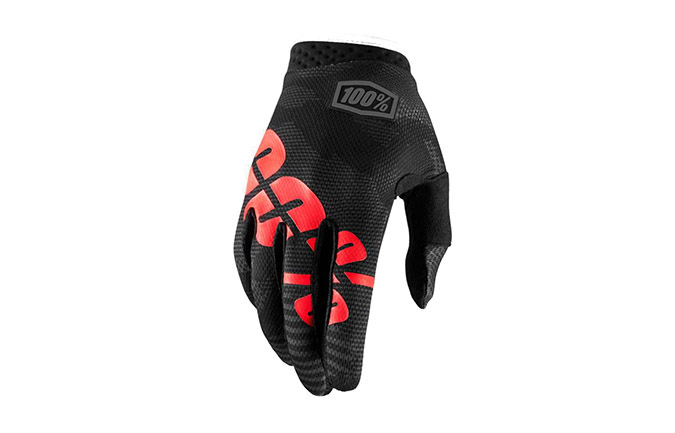 100% KIDS ITRACK GLOVES BLACK CAMO 2018
