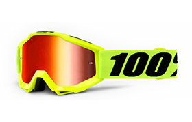 100% STRATA KIDS GOGGLE FLUO YELLO - GOLD MIRROR LENS