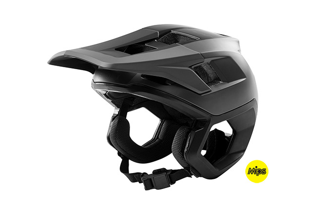 FOX DROPFRAME HELMET BLACK 2019
