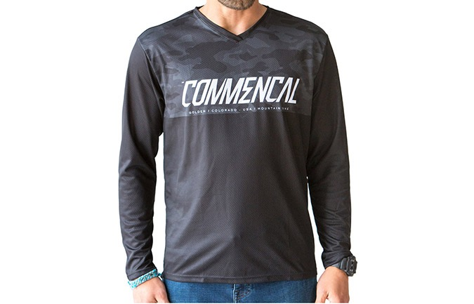 COMMENCAL JERSEY BY COMPEL LONG SLEEVE  BLACK