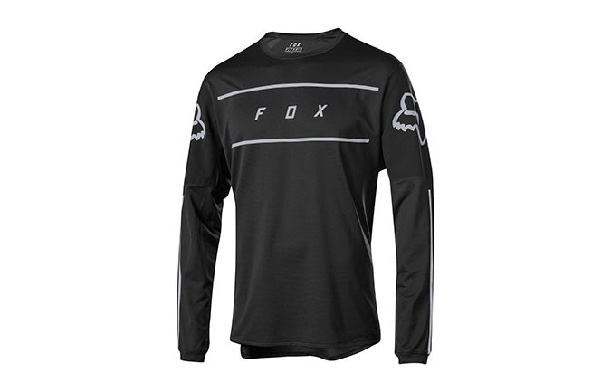 FOX FLEXAIR FINE LINE LONG SLEEVE JERSEY BLACK 2019