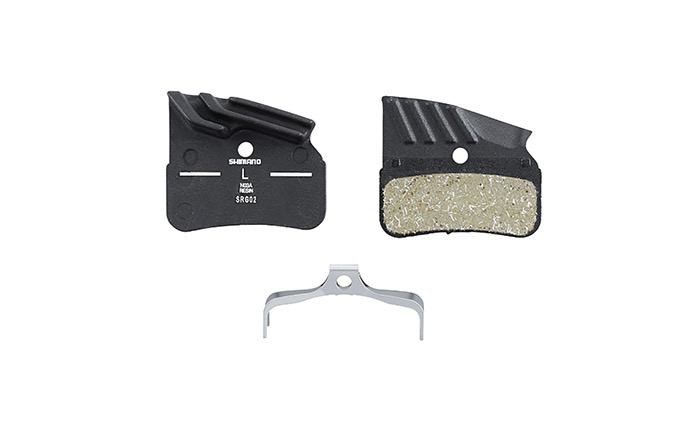 BRAKE PADS RESIN (NO3A) WITH FINS AND SPRING, FOR SHIMANO XT AND SLX