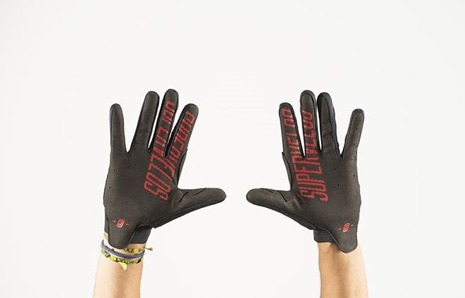 GLOVES FREERIDE RED 2016
