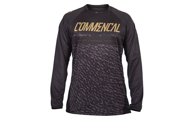 COMMENCAL LONG SLEEVE JERSEY BLACK/GOLD 2019